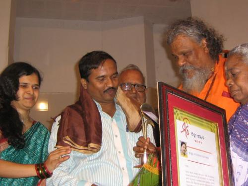 Shilpi Sammaan (artist of the year) - 2012, honoured by MAATIE cultural journal, Bhubaneswar.