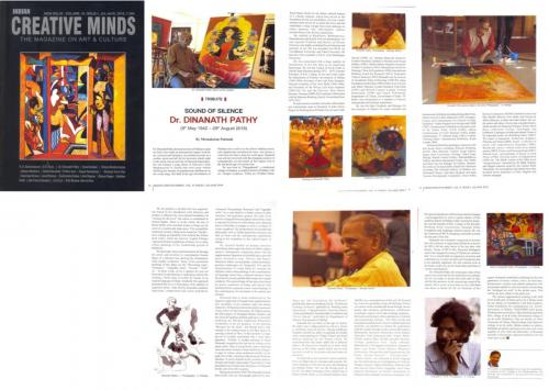 Sound of silence - A tributary article on late Dr. Dinanath Pathy - published in Indian Creative Minds in 2016