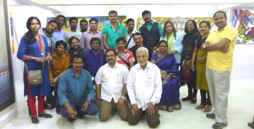 participants with Bhawesh in the closing day of Odisha Visual Fest at Shaurya arts